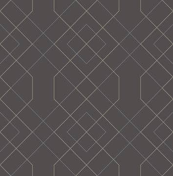 Picture of Ballard Grey Geometric Wallpaper- Scott Living
