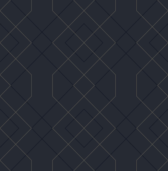 Picture of Ballard Indigo Geometric Wallpaper- Scott Living