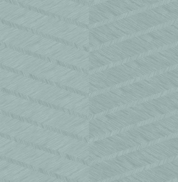 Picture of Aspen Aqua Chevron Wallpaper- Scott Living