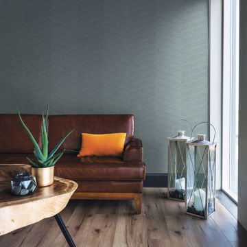 Picture of Aspen Aqua Chevron Wallpaper- Scott Living