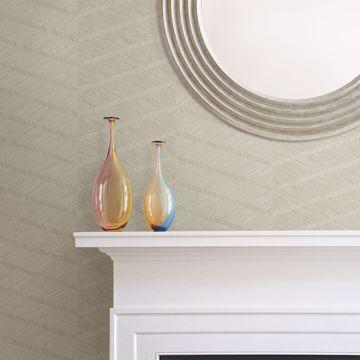 Picture of Aspen Champagne Chevron Wallpaper- Scott Living