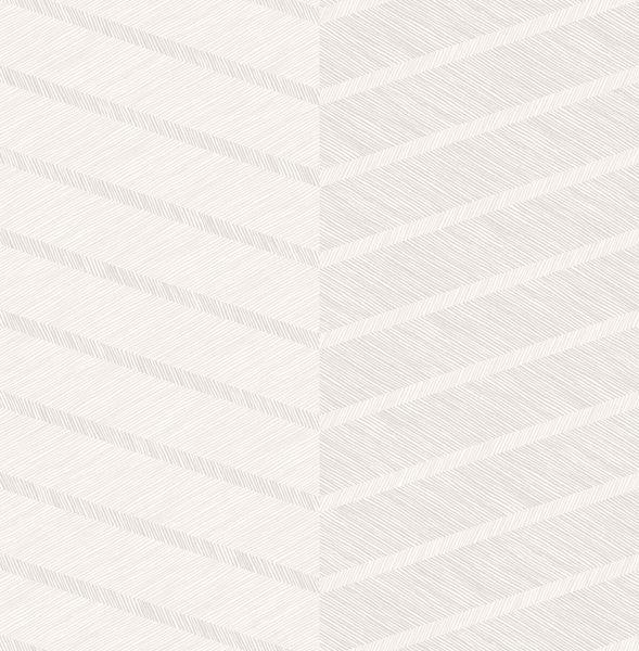 Picture of Aspen White Chevron Wallpaper- Scott Living