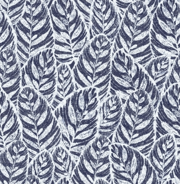 Picture of Del Mar Indigo Botanical Wallpaper- Scott Living