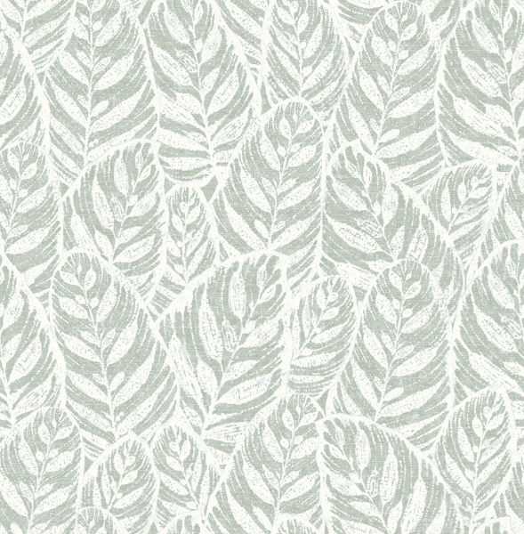 Picture of Del Mar Sage Leaf Wallpaper- Scott Living