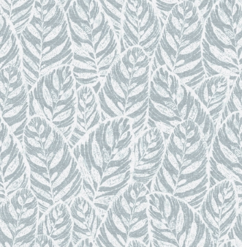 Picture of Del Mar Light Blue Botanical Wallpaper- Scott Living