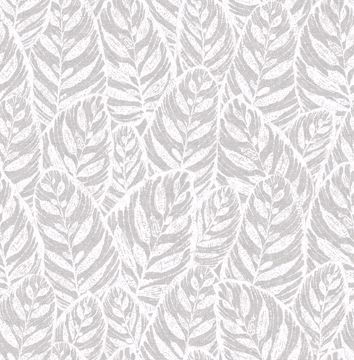 Picture of Del Mar Grey Botanical Wallpaper- Scott Living