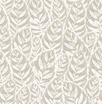 Picture of Del Mar Beige Botanical Wallpaper- Scott Living