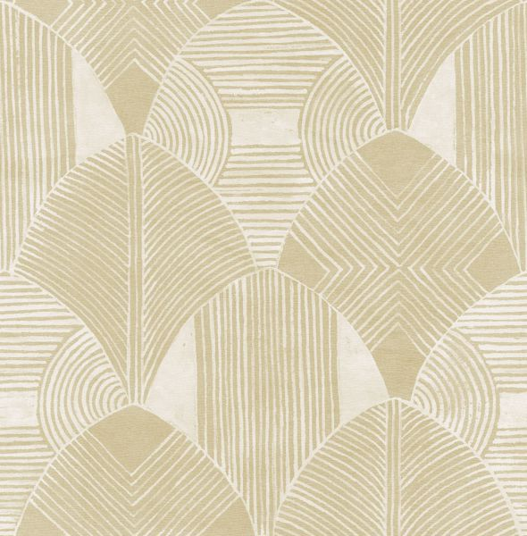 Picture of Westport Coffee Geometric Wallpaper- Scott Living