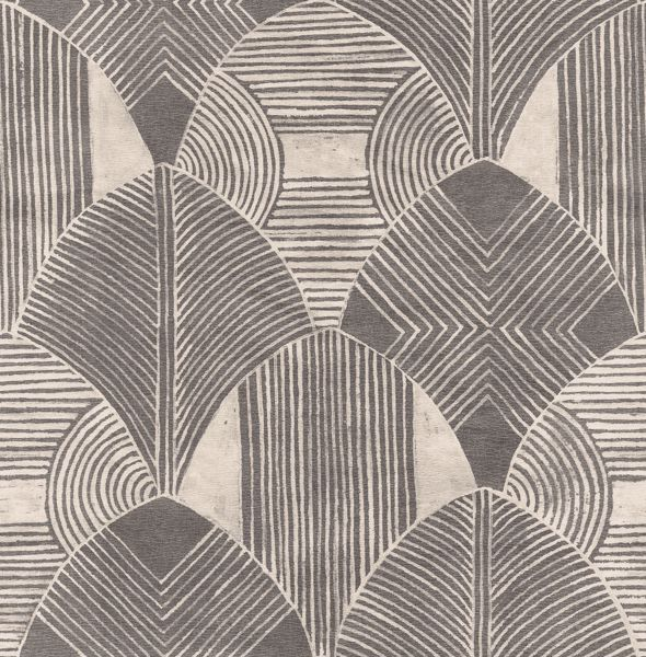 Picture of Westport Charcoal Geometric Wallpaper- Scott Living