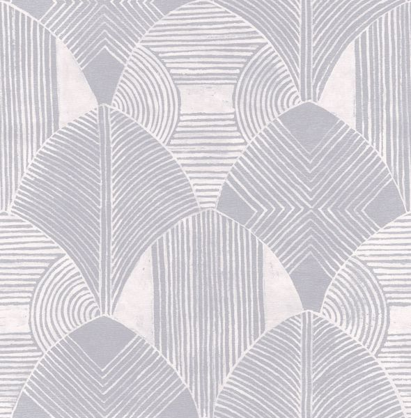 Picture of Westport Pewter Geometric Wallpaper- Scott Living