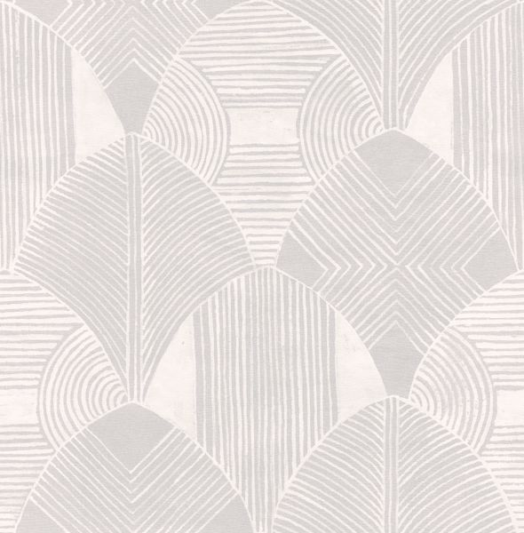 Picture of Westport Dove Geometric Wallpaper- Scott Living