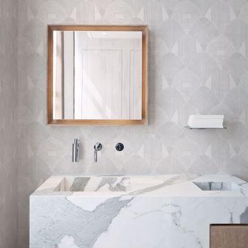 Picture of Westport Dove Geometric Wallpaper- Scott Living