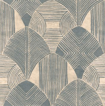 Picture of Westport Teal Geometric Wallpaper- Scott Living