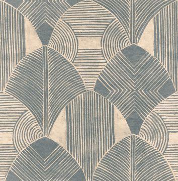 Picture of Westport Teal Geometric Wallpaper- Scott Living