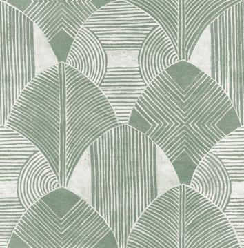 Picture of Westport Green Geometric Wallpaper- Scott Living