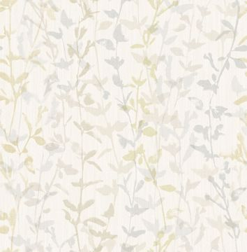 Picture of Thea Light Grey Floral Trail Wallpaper- Scott Living