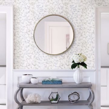 Picture of Thea Grey Floral Trail Wallpaper- Scott Living