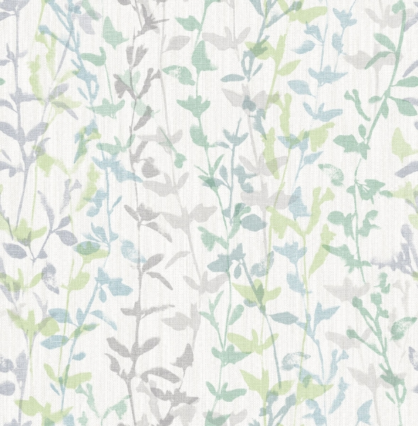 Picture of Thea Green Floral Trail Wallpaper- Scott Living