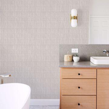 Picture of Brixton Light Grey Texture Wallpaper- Scott Living
