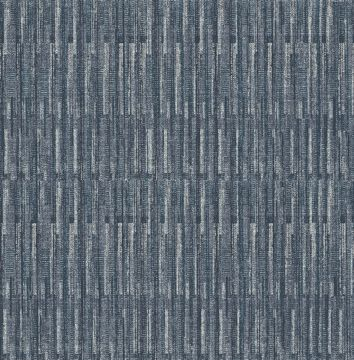 Picture of Brixton Indigo Texture Wallpaper- Scott Living