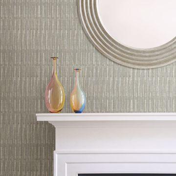 Picture of Brixton Grey Texture Wallpaper- Scott Living