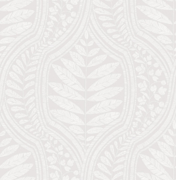 Picture of Juno Light Grey Ogee Wallpaper- Scott Living