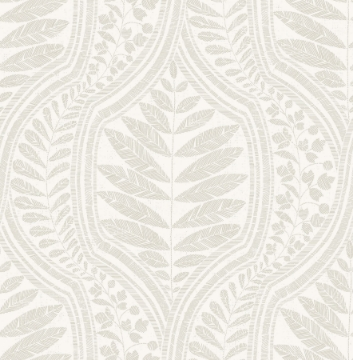 Picture of Juno Beige Ogee Wallpaper- Scott Living