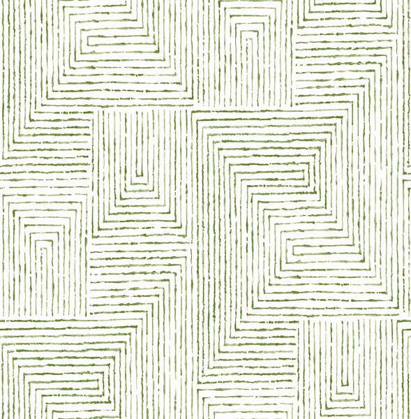 Picture of Merritt Green Geometric Wallpaper- Scott Living