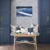 Picture of Merritt Indigo Geometric Wallpaper- Scott Living
