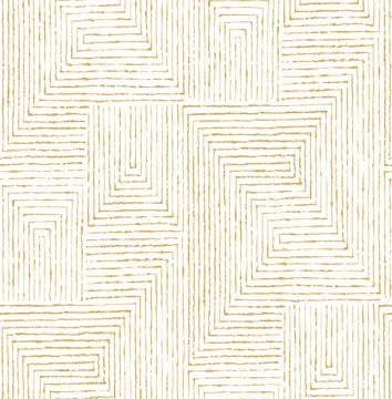 Picture of Merritt Honey Geometric Wallpaper- Scott Living