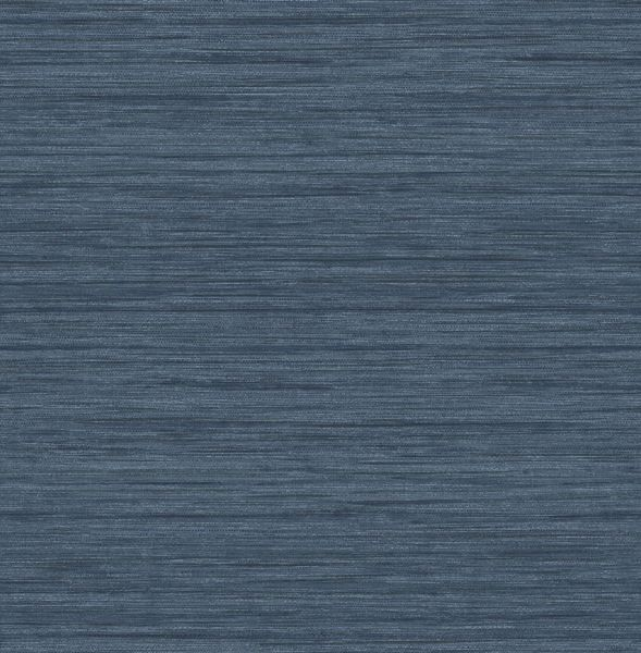 Picture of Barnaby Indigo Faux Grasscloth Wallpaper- Scott Living