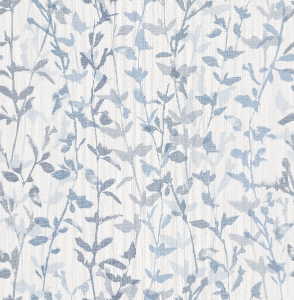 Picture of Thea Blue Floral Trail Wallpaper- Scott Living