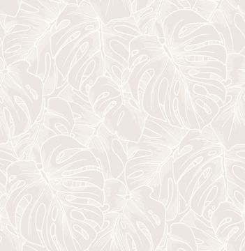 Picture of Balboa White Botanical Wallpaper- Scott Living