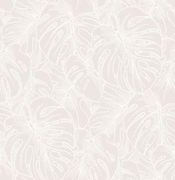 Picture of Balboa White Botanical Wallpaper- Scott Living
