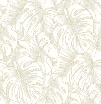 Picture of Balboa Gold Botanical Wallpaper- Scott Living