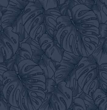 Picture of Balboa Indigo Botanical Wallpaper- Scott Living