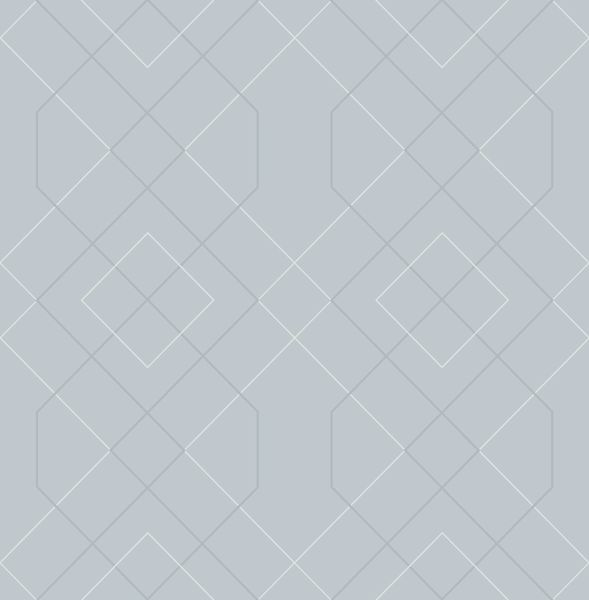 Picture of Ballard Light Blue Geometric Wallpaper- Scott Living