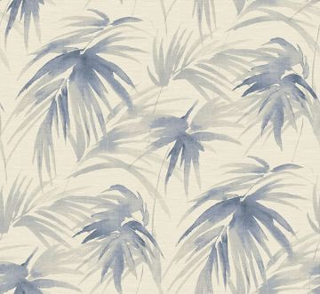 Picture of Darlana Blue Grasscloth Wallpaper- Scott Living