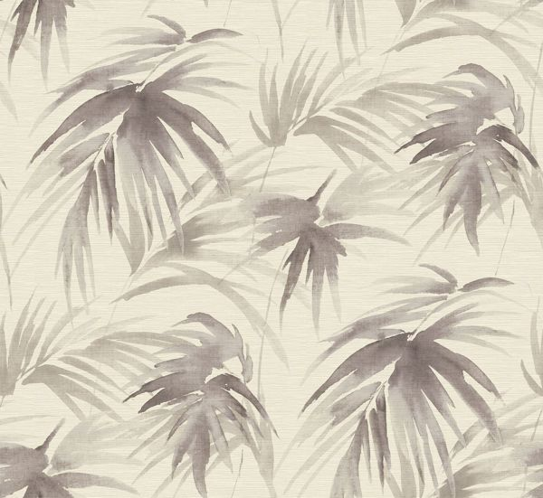 Picture of Darlana Pewter Grasscloth Wallpaper- Scott Living