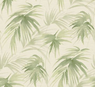 Picture of Darlana Green Grasscloth Wallpaper- Scott Living