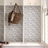 Picture of Cambridge Brick Grey Peel & Stick Wallpa Peel and Stick Wallpaper