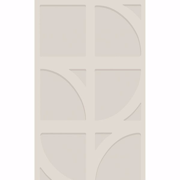 Picture of Shapes Champagne Curved Trellis Wallpaper