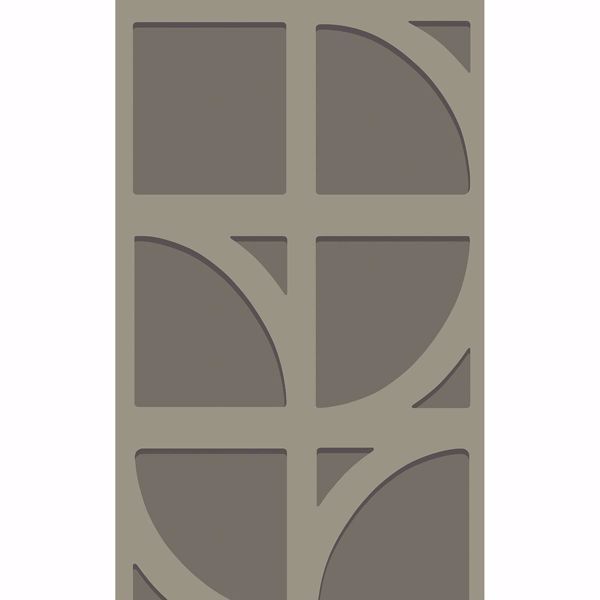 Picture of Shapes Dark Grey Curved Trellis Wallpaper