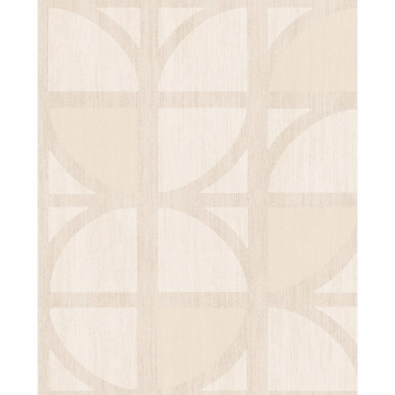 Picture of Tulip Cream Geometric Trellis Wallpaper