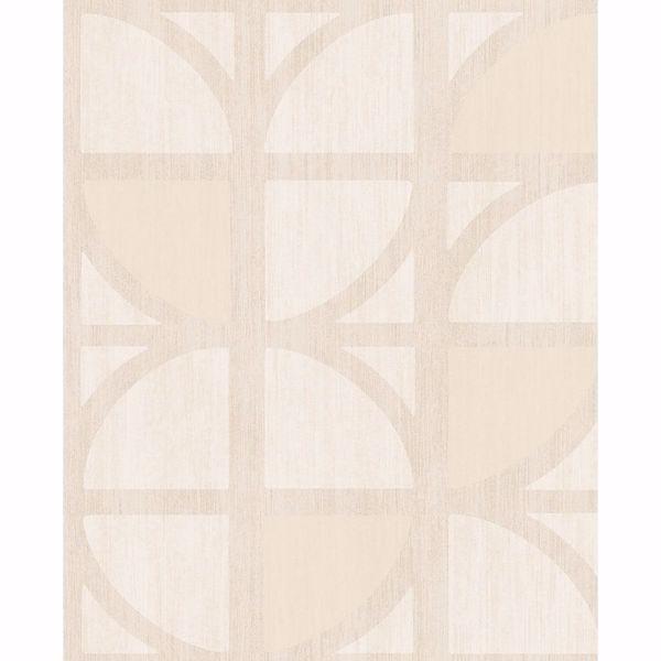 Picture of Tulip Cream Geometric Trellis Wallpaper