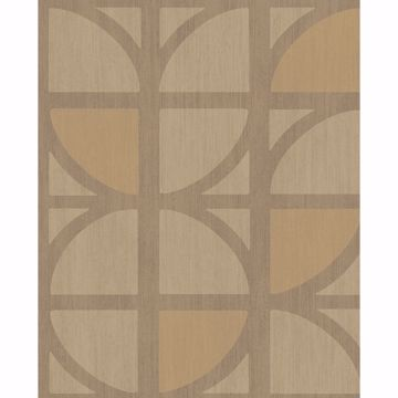 Picture of Tulip Gold Geometric Trellis Wallpaper