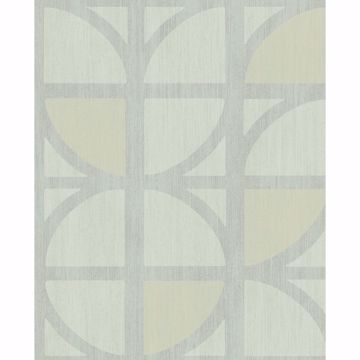 Picture of Tulip Mint Geometric Trellis Wallpaper