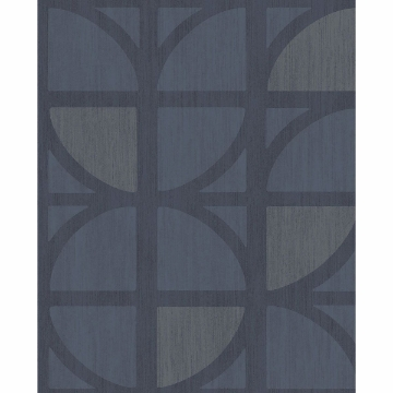 Picture of Tulip Dark Blue Geometric Trellis Wallpaper