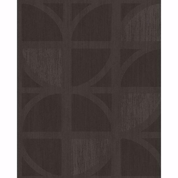 Picture of Tulip Chocolate Geometric Trellis Wallpaper