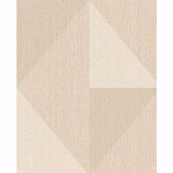 Picture of Diamond Khaki Tri-Tone Geometric Wallpaper